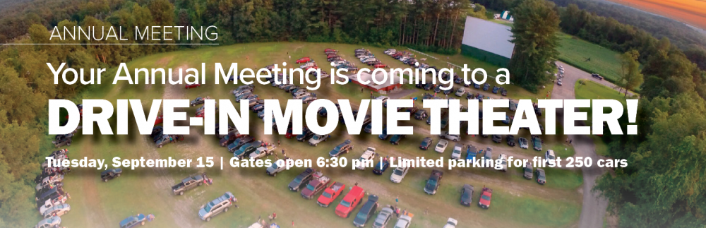 Drive in movie annual meeting